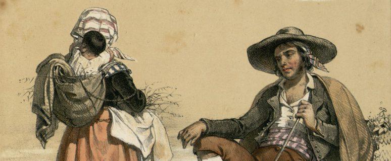 Familia de gitanos españoles, siglo XIX. / Cedida por el Archivo Federación de Asociaciones Gitanas de la Comunidad Valenciana (FAGA)