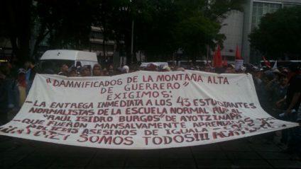 Una de las protestas por los 43 de Ayotzinapa. / Foto: LLL.