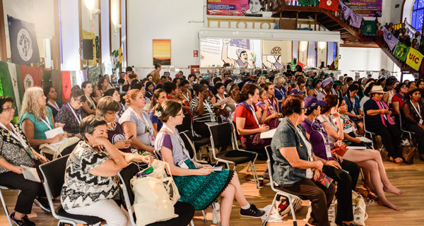 Asamblea de mujeres durante la VII Conferencia de La Vía Campesina. Fotos: LVC