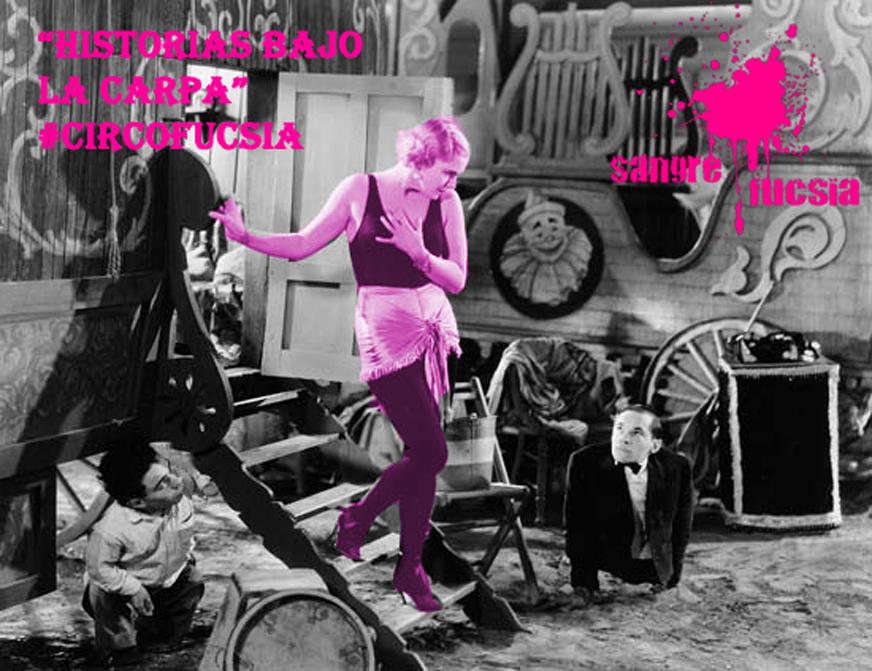 Mujer del circo saliendo de su camerino ambulante