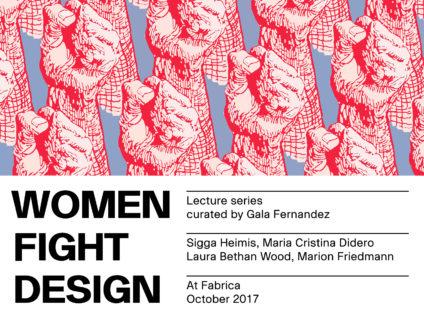 Cartel de 'Women Fight Design'