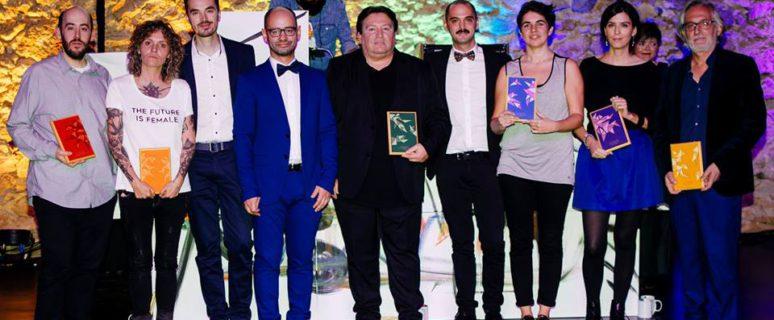 Todas las premiadas, junto a los organizadores, por el Festival FanCineGay 2017.