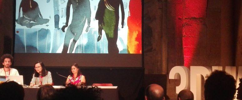 Chelo Loureiro presentando 'El sueño de la sultana' en el Festival 5W
