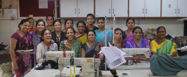 Una imagen del taller de costura.