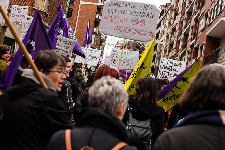 Diversos colectivos se sumaron a la marcha. / Foto: J. Marcos