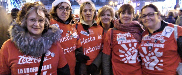 Algunas de las 'espartanas' en la última manifestación celebrada en Madrid. / Foto: Alberto G. Palomo