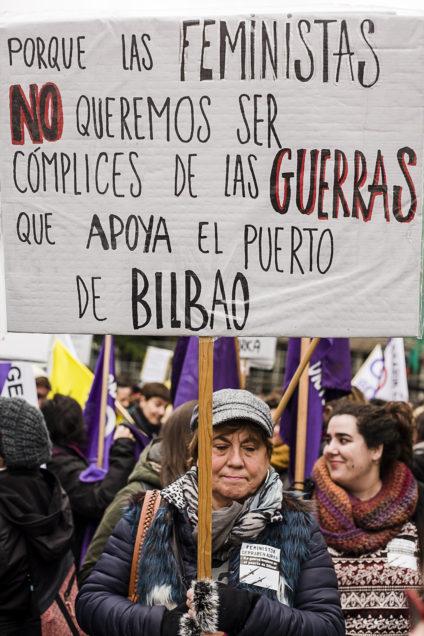 A pesar del mal tiempo, la marcha se prolongó durante unas dos horas. / Foto: J. Marcos