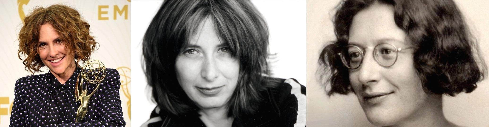 De derecha a izquierda: la filósofa Simone Weil, la novelista Chris Kraus y la directora Jill Soloway.