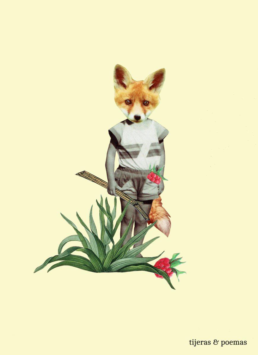 Ilustración: Ana Lorente, Tijeras & Poemas