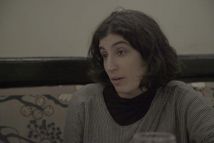 Nerea Barjola durante la entrevista.- Fotógrafa: Irene Ortiz Lloréns