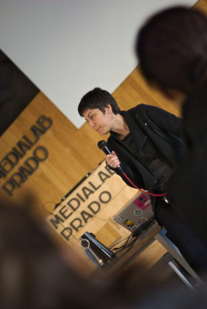 Patricia Horrillo, durante la Editatona de cine. / Foto: Irene Barrilero