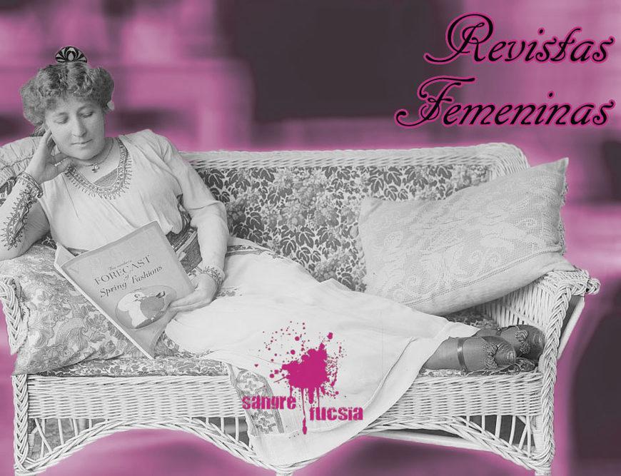 Sangre Fucsia - mujer leyendo una revista