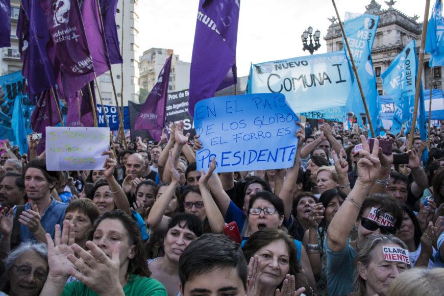 Protestas en Buenos Aires contra el Gobierno de Macri. / Foto: Constanza Portnoy