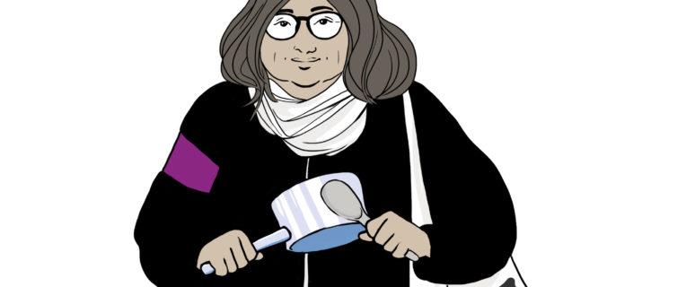 Dibujo de Susanna Martín para la huelga feminista