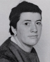 Retrato de Anita Sirgo tras ser rapada.
