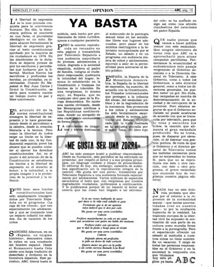 Editorial del ABC sobre la actuación de Vulpes en TVE. Pincha para acceder al PDF