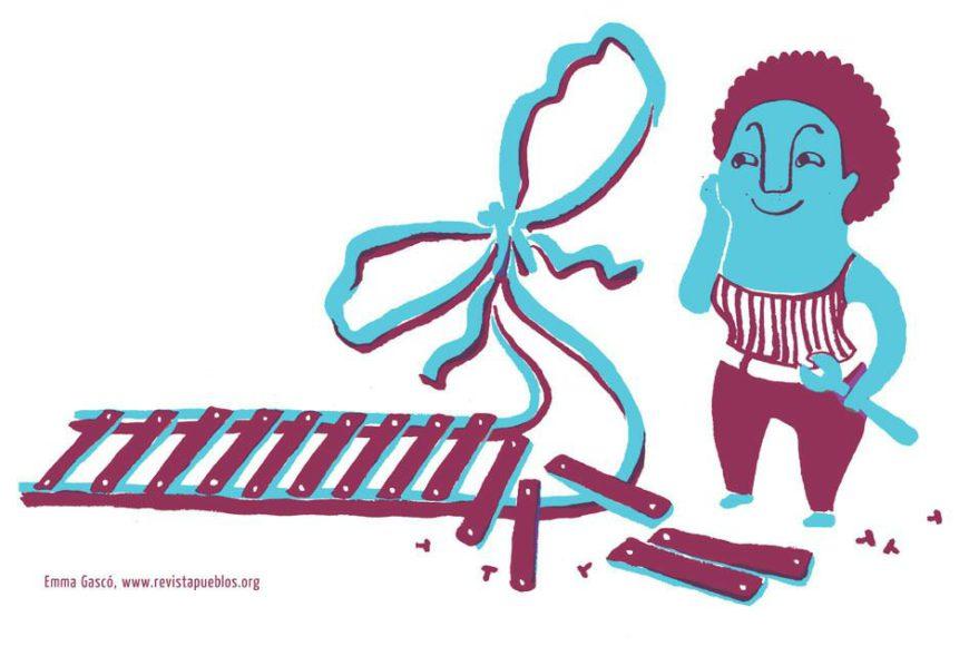 Ilustración de Emma Gascó para Pueblos.