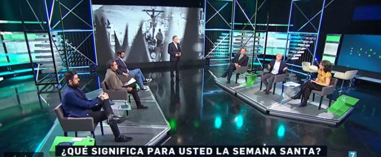 Fotograma de una tertulia en Canal Sur en la que participó Alicia Murillo.
