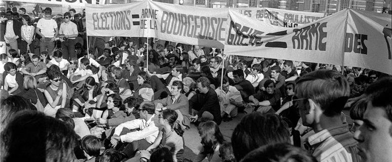 Asamblea de estudiantes en Toulouse. Junio de 1968. / Foto: André Cros.
