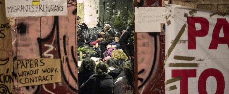 Encierro antirracista feminista en Barcelona