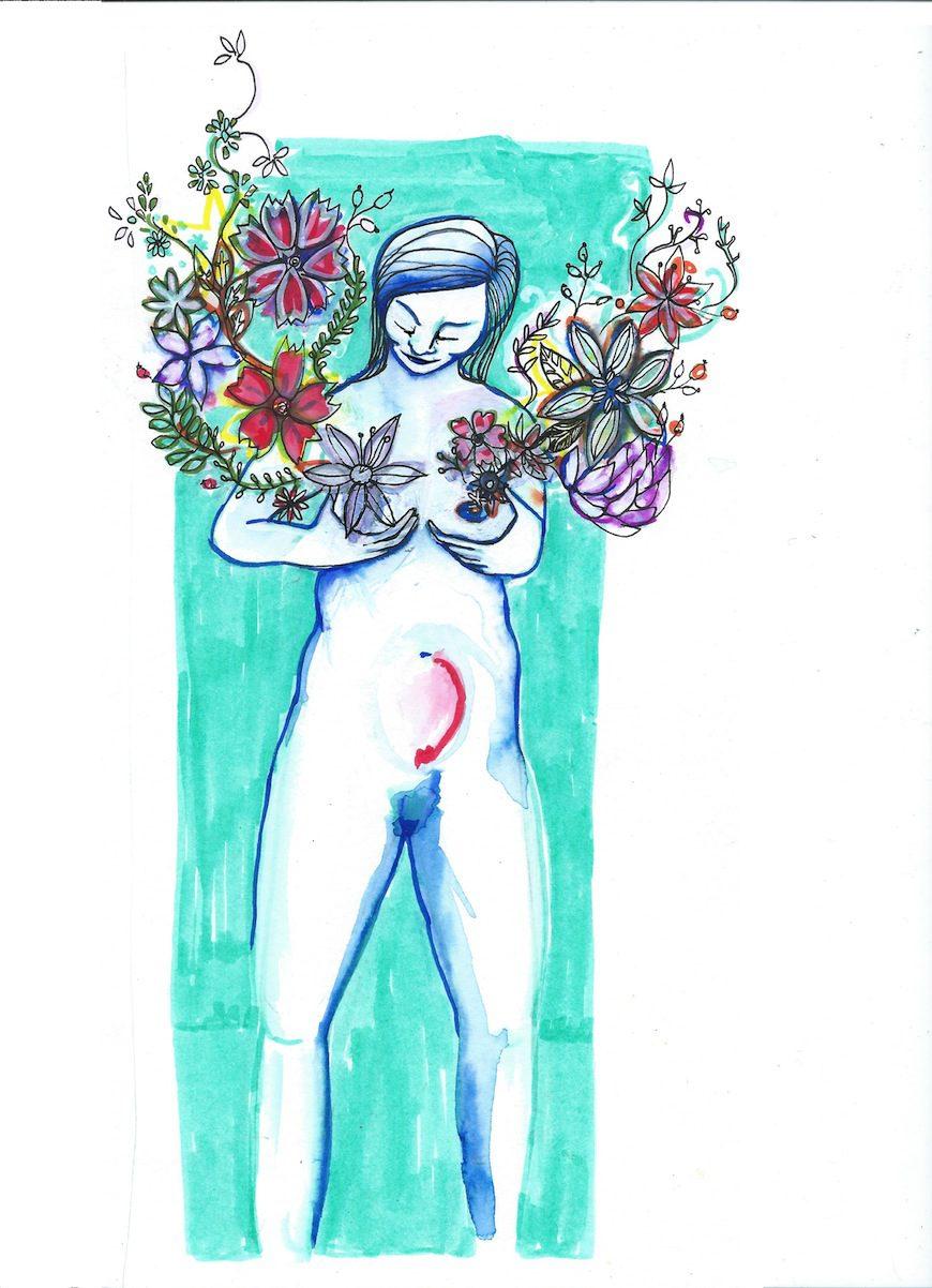 Ilustración de Glòria Vives para la revista Viure en Família