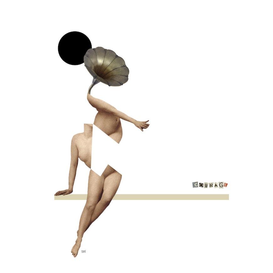 Ilustración de emecé eseene para la exposición 'Todas las búsquedas que somos'