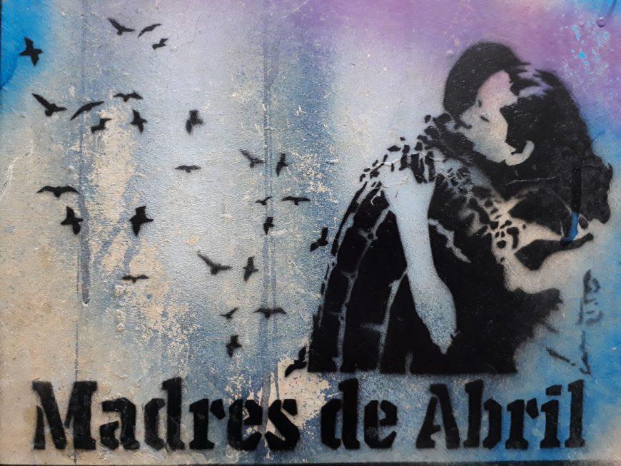 Stencil diseñado por  Violeta Perra. Foto de Persians Mejia