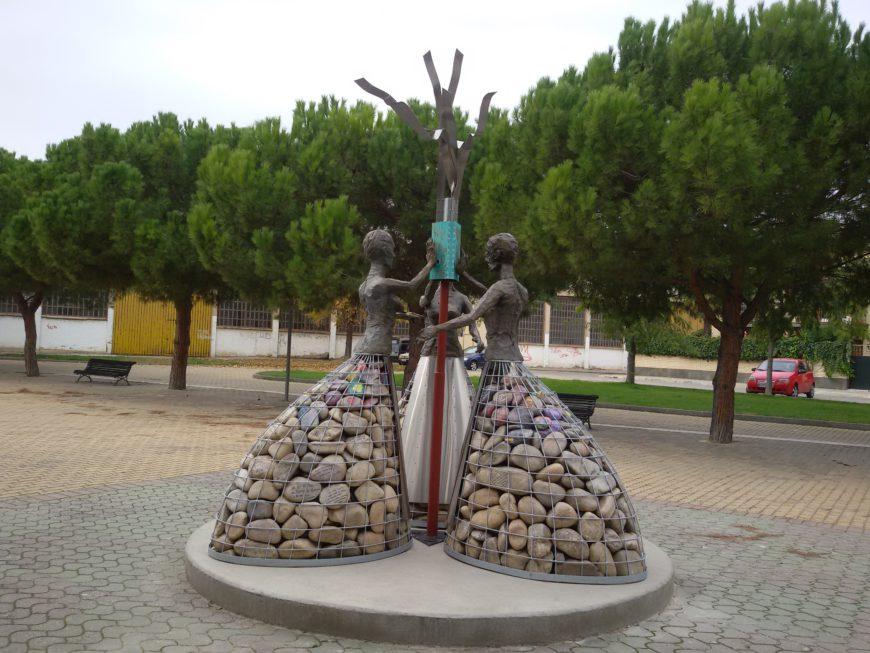 El monumento de Azkoien. / Foto: Julia Monje