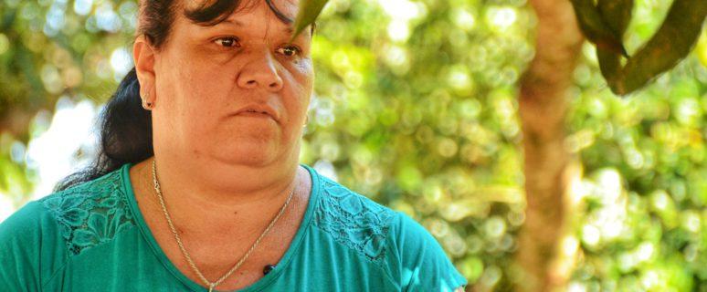 María Máxima Segovia es lideresa campesina de la Comisión Mujer Paraguaya San Juan Poty, en el asentamiento San Juan de Puente Kyjha (Canindeyú, Paraguay). / Foto: Jess Insfrán Pérez