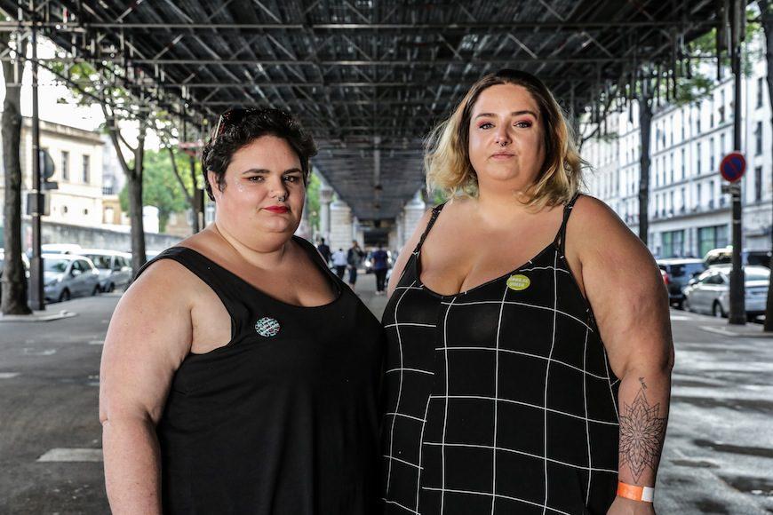 Eva Pérez y Daria Marx, fundadoras del colectivo Gras Politique./ T.S.