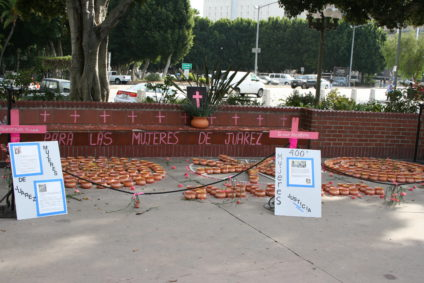 Monumneto Feminicidio Ciudad Juarez. / Foto: Jim Winstead