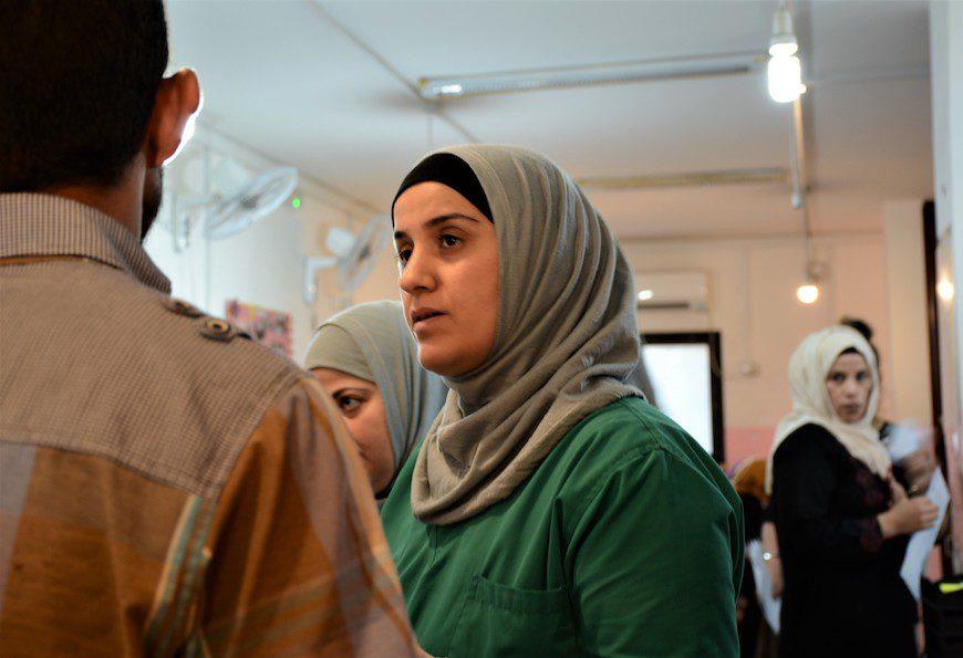 El personal médico de Médicos Sin Fronteras atiende cada día a cientos de pacientes sirias