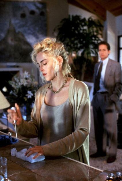 Sharon Stone en Instinto Básico.