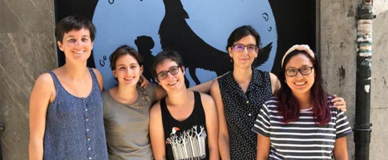 De izquierda a derecha: June Fernández, Andrea Rubio, Andrea Momoitio, Mª Ángeles Fernández y Tamia Quima