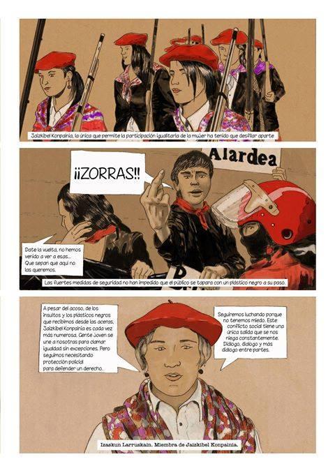 Al principio los hombres se opusieron a Jaizkibel; ahora son mujeres las que encabezan las protestas contra nosotras./ Iñigo Goicoechea