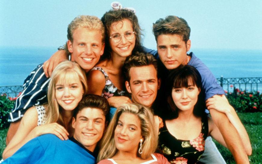 Los personajes de la serie 'Sensación de vivir'.