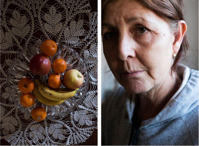 """""""Llamo a mi nieta y me dice: 'yaya, ¿puedes traer algo de comida?'"""". """"No tenemos nada para cenar. Eso es para que lo apuntes"""", (Chany, 63 años)."""