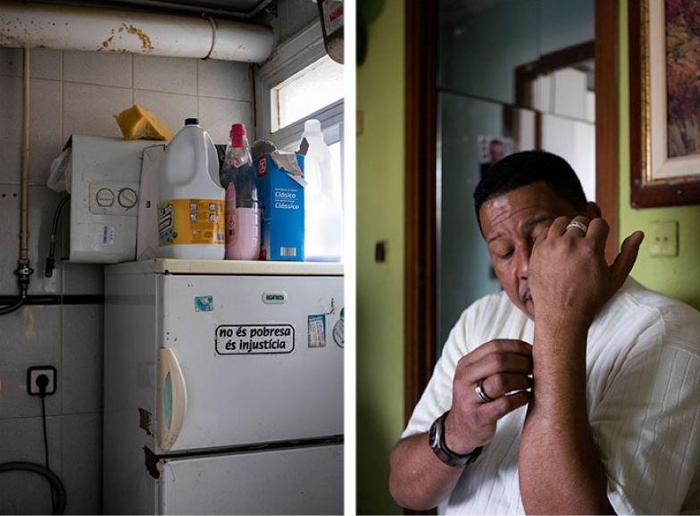 """""""Desde los últimos meses solo hacemos una comida al día"""". (Francisco, 53 años)."""