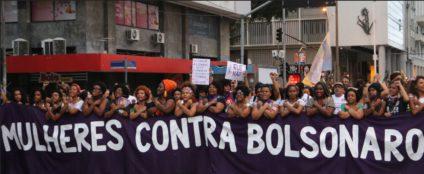 Mulheres contra Bolsonaro fue una de las pancartas. / Foto: Luna Gámez