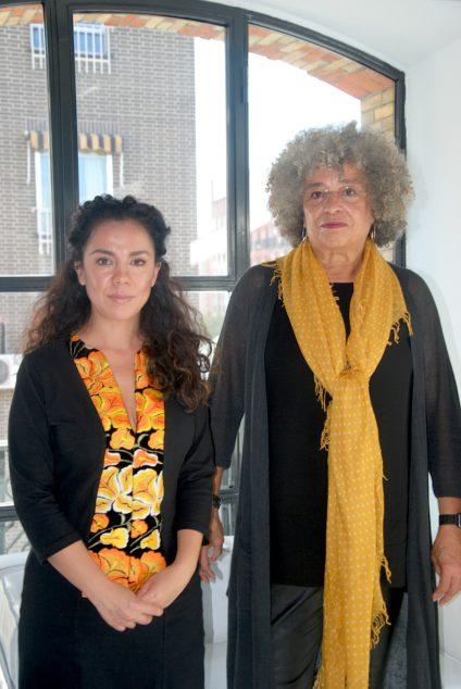 Mercedes Hernández y Davis durante la rueda de prensa en Madrid./ B.N.