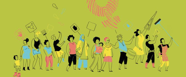 Ilustración de Emma Gascó para la Coordinadora Andaluza de ONGD