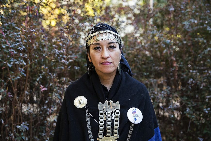 Moira Millán, lideresa mapuche./ David Fernández para El Salto Diario