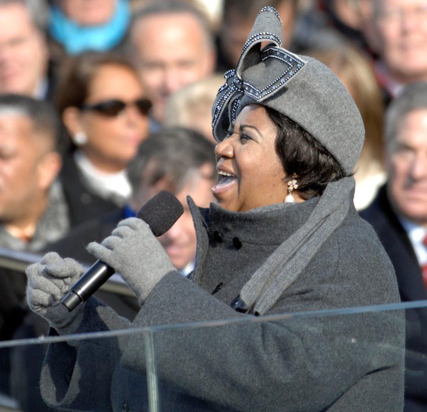 "Aretha Franklin cantando ""My Country 'Tis Of Thee'"" durante la inauguración presidencial de Barack Obama en 2009./ Cecilio Ricardo vía Wikimedia Commons"