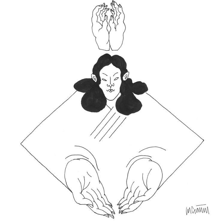 Mujer entregada. / Ilustración de Lucía Naval @nunilobiloba.