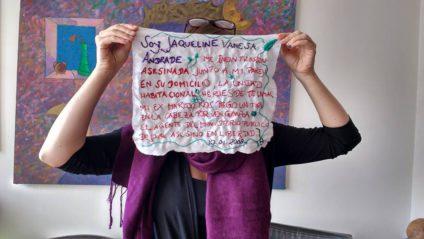 Foto del Facebook de Bordamos Feminicidios.