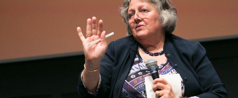 Rosi Braidotti durante su conferencia en el CCCB