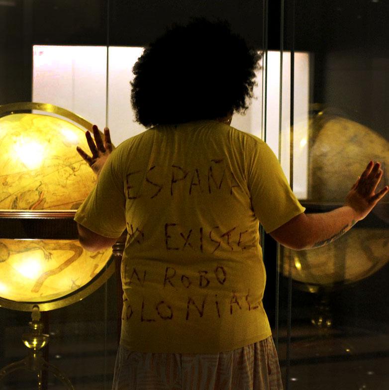 Foto realizada en el contexto de la exposición 'Devuélvanos el oro'./ Colectivo Ayllu