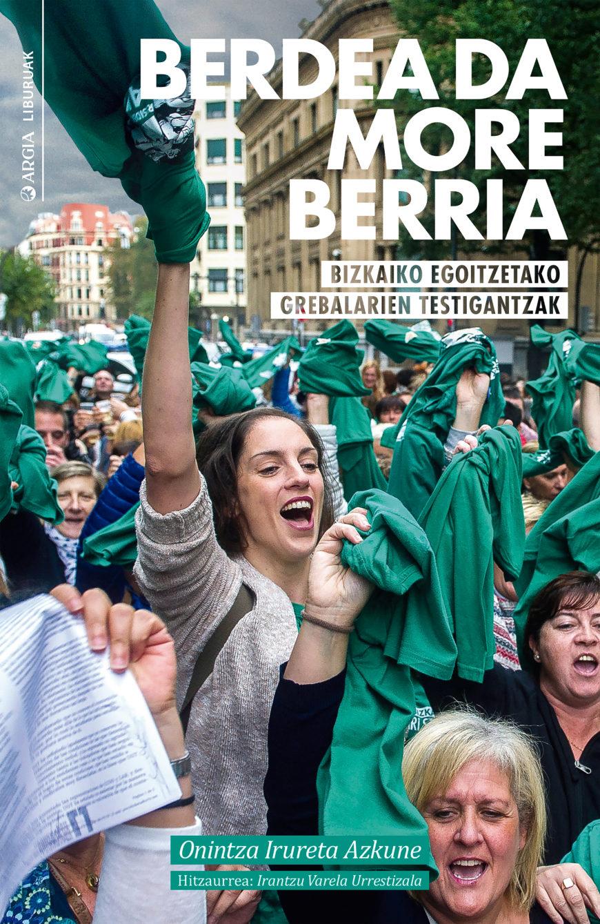 'Berdea da more berria' liburuaren azala
