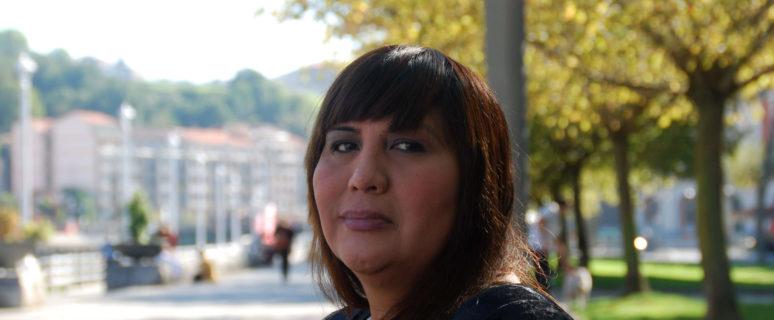 Claudia Ancapán en Bilbao. / Foto: Iñaki Makazaga