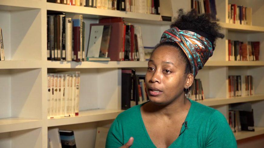 Karo Moret en un fotograma de un vídeo realizado por el CCCB
